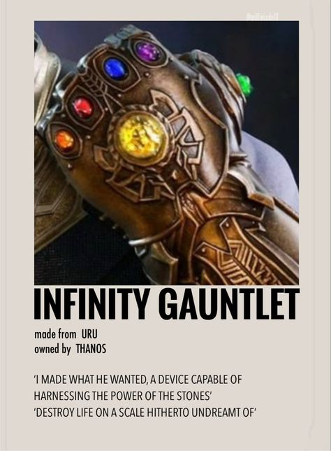 The infinity gauntlet by Millie