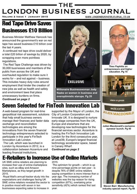 The london business journal volume 2 issue 1 january 2015