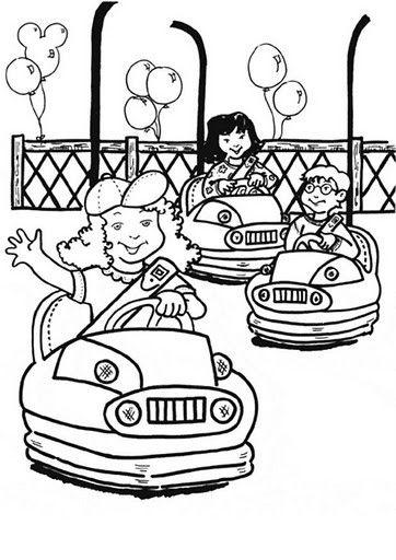 Okul Oncesi Lunapark Boyama Sayfalari Okul Oncesi Etkinlik