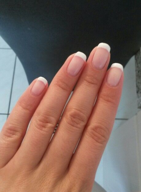Classic French Nails #Classic #French #nails French Nails