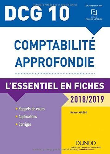 Dcg 10 Comptabilite Approfondie 2018 2019 L Essentiel En Fiches Par Author Est Disponible Au Telechargement En Forma Learn French Web Marketing Investing