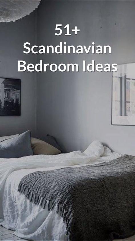 Cozy modern minimalist swedish bedroom inspiration