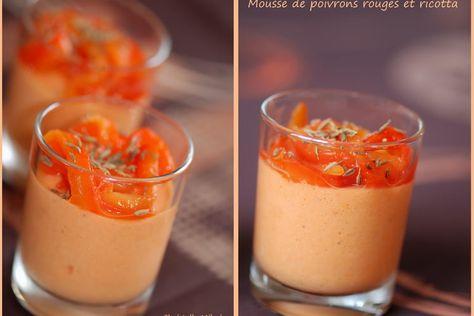 Recette de Mousse de poivrons rouges et ricotta : la recette facile