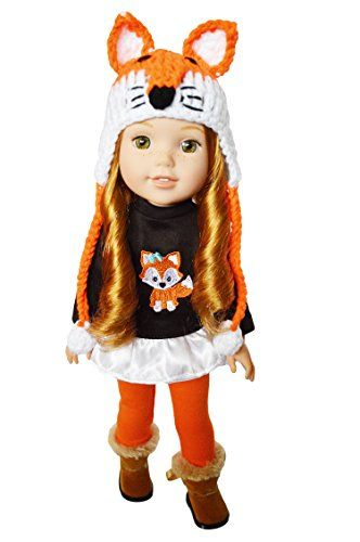 My Brittany/'s Fall Woodland  Dress for Wellie Wisher Dolls 14 Inch Doll Clothes