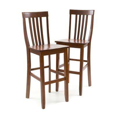 Three Posts Haslingden Bar Counter Stool Seat Height Counter Stool 24 Seat Height Finish Classic Cherry In 2020 Bar Stools Bar Stool Seats 24 Bar Stools