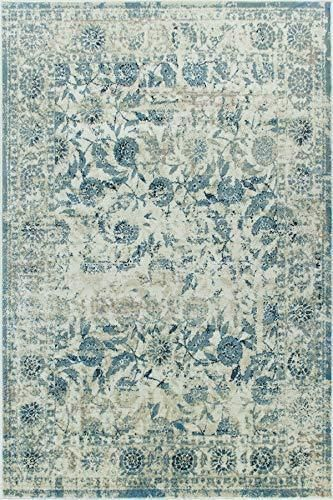 4632 Blue Bohemian Distressed Vintage Area Rugs In 2020 Area
