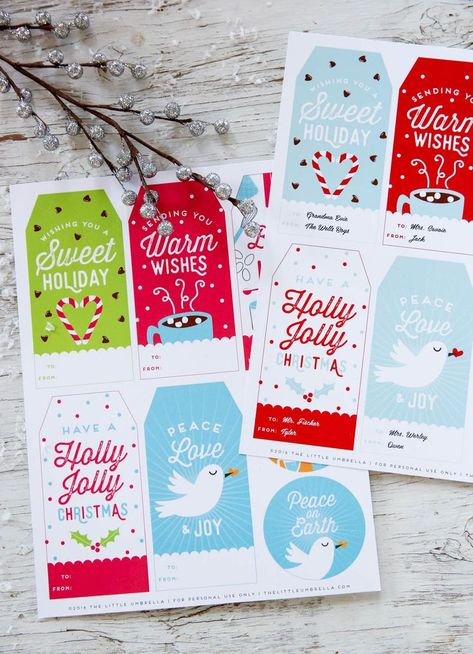 Free Personalized Holiday Gift Tags. Free Personalized Holiday Gift Tags. This printable template is perfect for teacher and kids gift ideas! Simple, editable, and fun. #GiftTags #Printable #Christmas