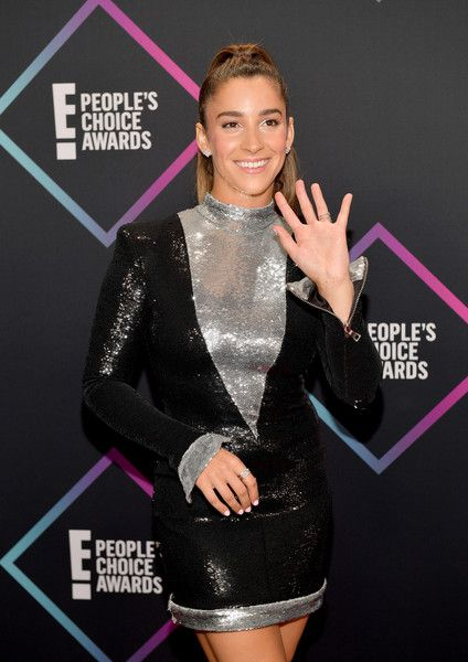 Aly Raisman attends the People's Choice Awards 2018.