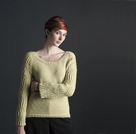 Ravelry: Hourglass Sleeve Pullover pattern by Carolyn Noyes