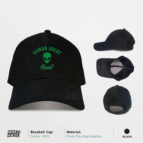 Human Arent Real Baseball Caps Alien Caps Tumblr Caps  d27d41a57864