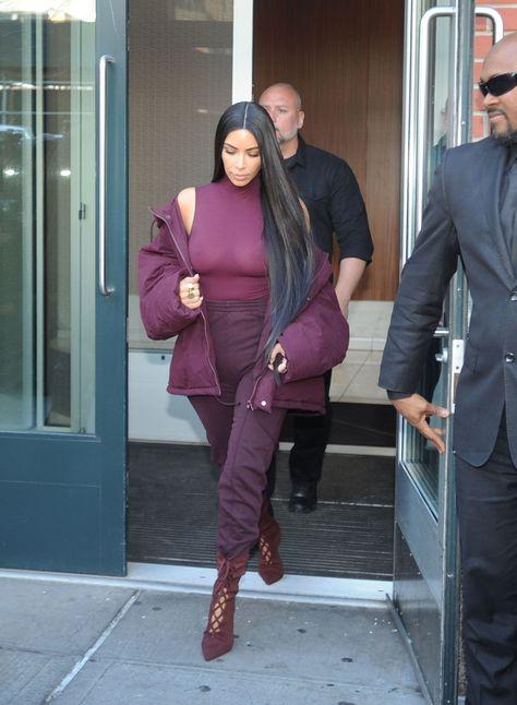 72b23ea05b2 Kim Kardashian West Shuts Down Yeezy Season 5 in Fall s Hottest Color
