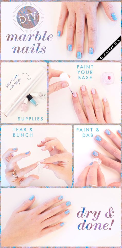 how to: marble nail manicure