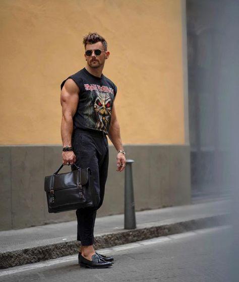 Sleeveless shirt and ankle pants ⚡ men date night looks в 20 Streetwear, 80s Fashion, Fashion Outfits, Street Fashion, Emo Outfits, Lolita Fashion, Fashion Boots, Fashion Ideas, Men Looks