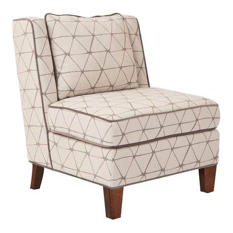 Osp Home Furnishings Marseilles Geo Taupe Chair Accent Chairs