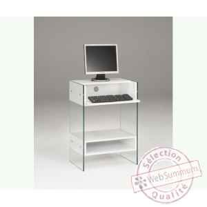 Petit Meuble Informatique En Mdf 60x40 Ht 86cm Avec Niche De Meuble Design Marais Petit Meuble Meuble Informatique Meuble Design