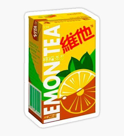 Hong Kong Stickers Lemon Drink Lemon Drinking Tea