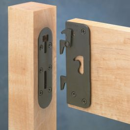 5 Surface Mounted Bed Rail Brackets Rockler Woodworking Woodworking Safety Bed
