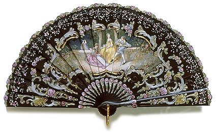 brise fan made of ebony, 1890