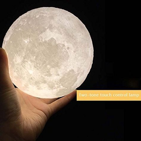 Amazon Com Huluwa Night Light Pldm 3d Printing Moon Lamp Lunar Usb Charging Night Light Touch Control Bri Led Night Light Night Light Kids Color Changing Led