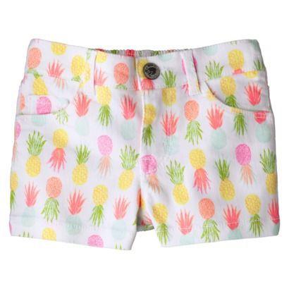 1639baceb73 Cherokee® Infant Toddler Girls  Pineapple Chino Short