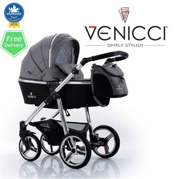Buy Venicci baby Travel System Polka Dots + carseat online at the best price. UK & ROI delivery. Payment plans available. Baby pram store in Belfast.