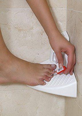 Elevease Shower Step White Corner Bathroom Step Ideal For