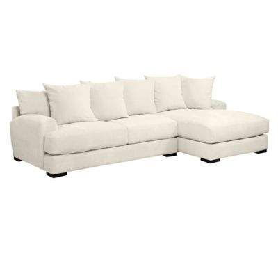 Stella Chaise Sectional 2 Pc Sectional Sofa With Chaise White Furniture Living Room Sectional