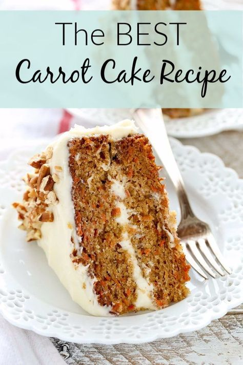 Easy Moist Carrot Cake With Cream Cheese Frosting Recipe.Moist Carrot Cake With Cream Cheese Frosting Baking From . World's Best Carrot Cake With Cream Cheese Frosting . The Best Carrot Cake Spend With Pennies. Home and Family Homemade Carrot Cake, Homemade Cake Recipes, Carrot Recipes, Recipes For Cakes, Homemade Frosting, Homemade Snickers, Recipe For Buttercream Icing, Moist Cake Recipes, Easy Food Recipes