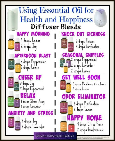 10 Diffuser Blends for Health and Happiness. Start your day off right, boost your mood and support your immune system using these simple #essential oil diffuser blends.