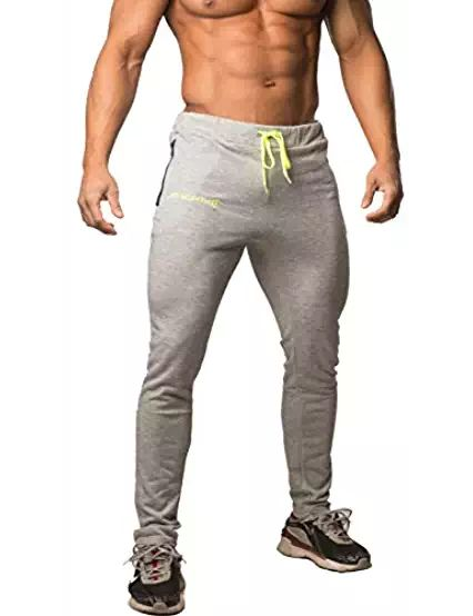 Jed North Mens Active Gym Running Casual Slim Fitted Workout Sweat Pants with Pockets