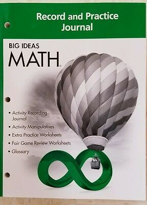 Big Ideas Math Green Record And Practice Journal Green Grade 6 In 2020 Big Ideas Math Math Big Ideas Learning