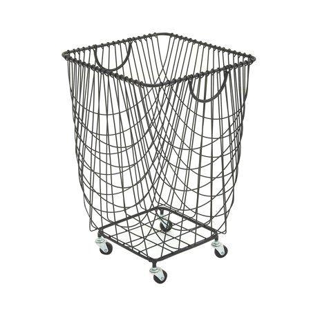 Home Metal Laundry Basket Hamper Storage Laundry Basket
