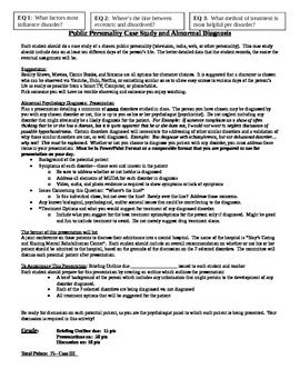 Which Disorder Case Study Assignment | Psychology