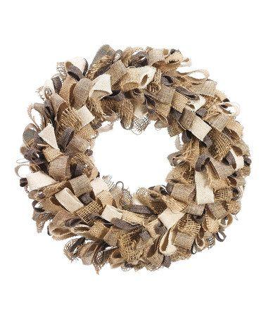 This Burlap Loop 14'' Wreath is perfect! #zulilyfinds
