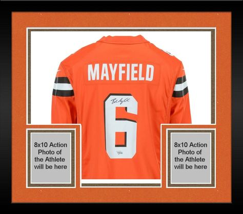 ab350b206 Framed Baker Mayfield Cleveland Browns Autographed Nike Orange Game Jersey   sportsmemorabilia  autograph  football