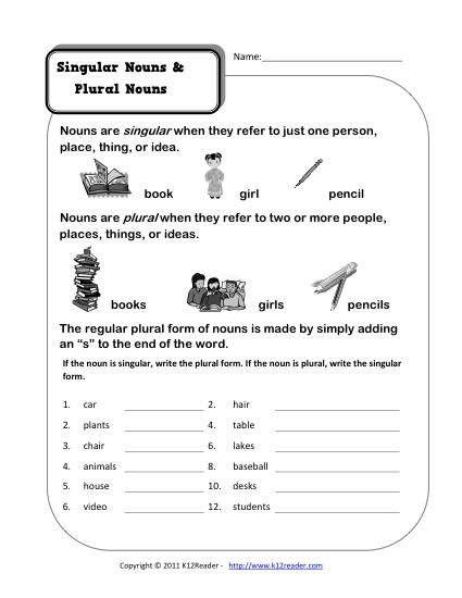Noun Worksheets For Kindergarten In 2021 Singular And Plural Nouns Plurals Nouns Worksheet Free noun worksheets for kindergarten