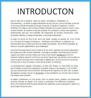 Exemple D Introduction Rapport De Stage Memoire Remerciement Word Doc Quote Citation Dissertation Francai