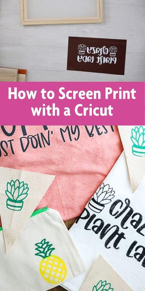 How to Screen Print with a Cricut
