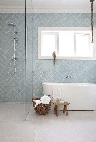 Pale Blue Ceramic Tiles For Bathroom In 2020 Bathroom Interior Bathroom Interior Design Bathroom Design