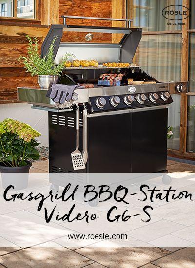 Gasgrill Bbq Station Videro G6 S Schwarz 50 Mbar In 2020 Gasgrill Bbq Steaks