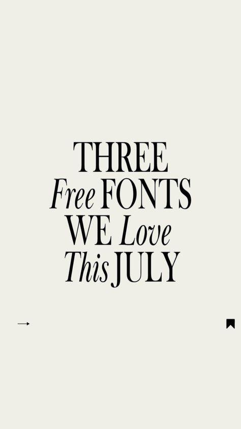 Three Elegant Free Fonts We Love This July 🌼👉