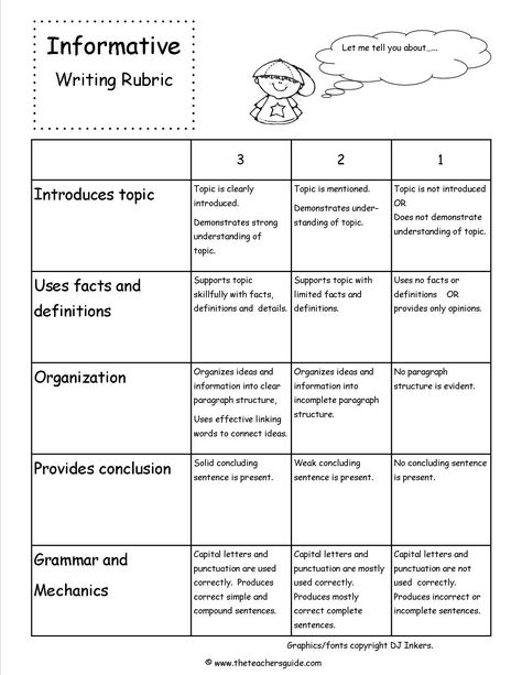 Informative Writing Lesson Plans, Themes, Printouts, Crafts