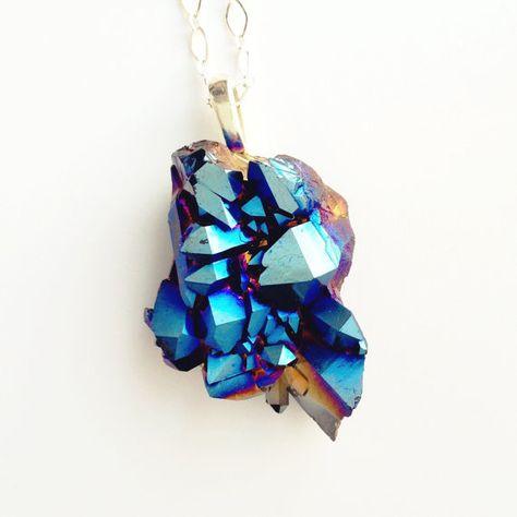 Nathis Blue Quartz Gemstone necklace