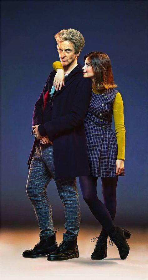 Décimo Doctor, Doctor Who Clara, Twelfth Doctor, Peter Capaldi Doctor Who, Geronimo, Doctor Who Companions, Tv Doctors, Clara Oswald, Jenna Coleman