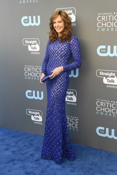 Allison Janney in Michael Cinco - The Most Daring Dresses at the 2018 Critics' Choice Awards - Photos