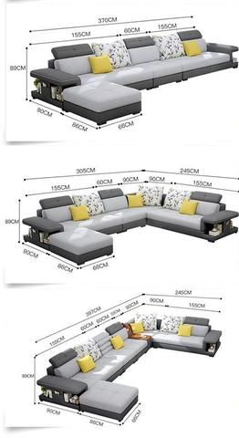 Modern Luxury U Type Fabric Sofa Living Room Sofa Design Modern