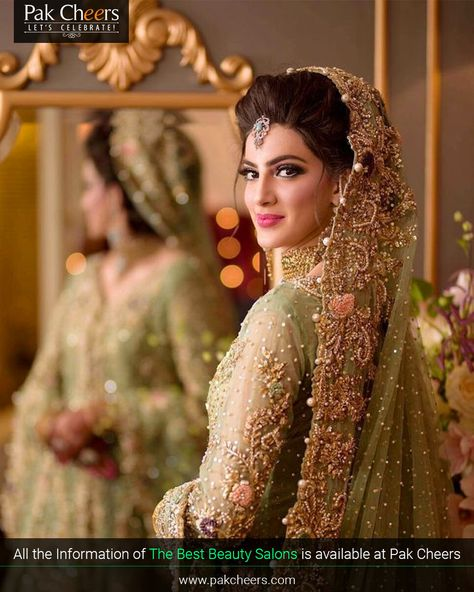 Minimal make up look with light color dress pakistani wedding outfits, pakistani bridal makeup,