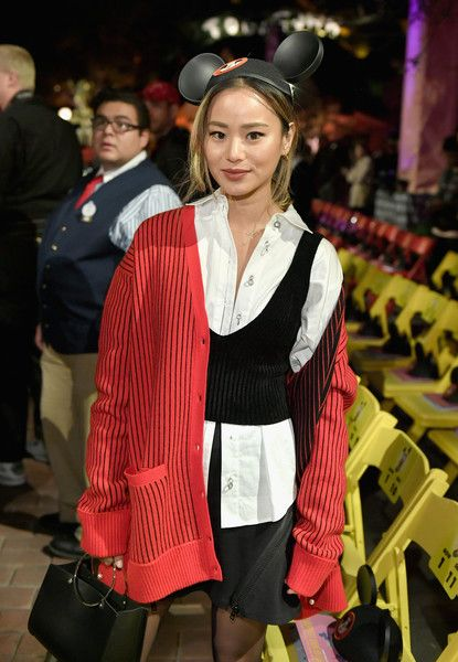 Jamie Chung attends the launch of the Mickey the True Original campaign in celebration of Mickey's 90th anniversary.