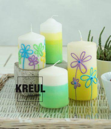 Farbfrohliche Kerzen Mit Dem Pictixx Kerzenpen Kerzen Gestalten