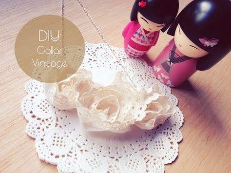 ▶ DIY: Collar Vintage / Vintage Necklace - YouTube